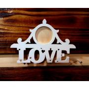 Деревянная фоторамка в стиле винтаж