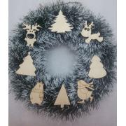 """Рождественский венок """"Зимний лес"""" 26 см"""