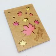 """Деревянная открытка """"Хорошей учебы  """" резная"""