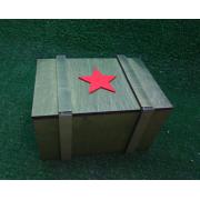 Подарочная коробка на 23 февраля Звезда хаки