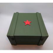 Большая коробка на 23 февраля Звезда