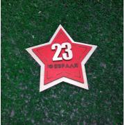 Магнит 23 красная звезда