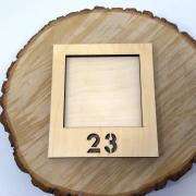 """Деревянная инстарамка """"23"""""""
