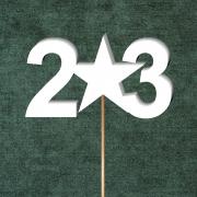 """Топпер в букет """"23"""""""