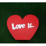 """Коробка для цветов """"Love is"""""""