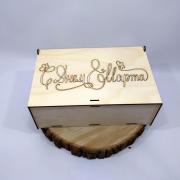 """Деревянная коробка для подарка """"С днем 8 Марта"""""""
