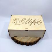 """Деревянная коробка для подарка """"С 8 Марта"""""""