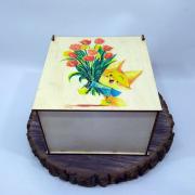 "Квадратная коробка для подарков ""Лисенок"""