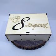 """Деревянная коробка для подарка """"С 8 Марта"""" (с отсеками)"""