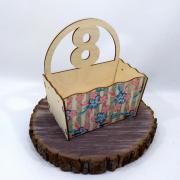 """Маленький ящик для цветов """"8 Марта"""""""