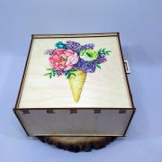 """Коробка-пенал для подарков """"Мороженое со вкусом Весны"""""""