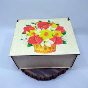"""Прямоугольная коробка для подарка """"Нарциссы"""""""