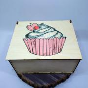 """Прямоугольная коробка для подарка """"Тортик"""""""