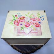 """Прямоугольная коробка для подарка """"Ящик Цветов"""""""