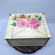 """Прямоугольная коробка для подарка """"Письмо от Весны"""""""