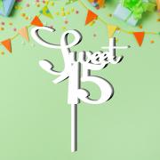 "Детский топпер ""Sweet 15"""