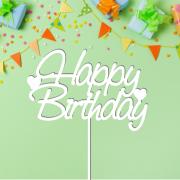 """Детский топпер """"Happy Birthday"""" с сердечком"""