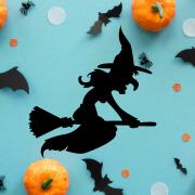 "Украшение на Хэллоуин ""Ведьма на Метле"""