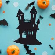 """Украшение на Хэллоуин """"Замок с башнями"""""""