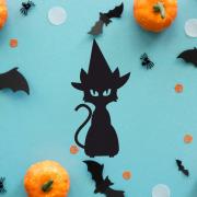 """Украшение на Хэллоуин """"Черная Кошка"""""""