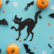 """Украшение на Хэллоуин """"Черный Котик"""""""