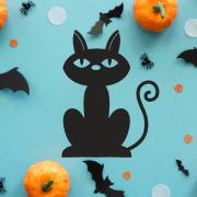 """Украшение на Хэллоуин """"Черный Котенок"""""""