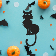 """Украшение на Хэллоуин """"Черный Кот"""""""