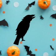 """Украшение на Хэллоуин """"Черный Ворон"""""""