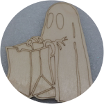 Заготовки для Хэллоуина с контуром  оптом