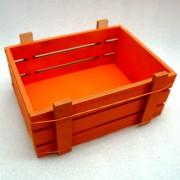 Оранжевый ящик для подарков