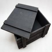 Черный ящик для подарков с крышкой