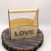 """Маленький ящик для цветов """"LOVE"""""""