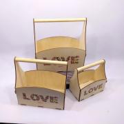 """Набор ящиков для цветов """"LOVE"""""""