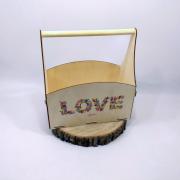 """Большой ящик для цветов """"LOVE"""""""