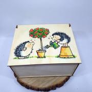 """Прямоугольная коробка для подарка """"Дерево любви"""""""