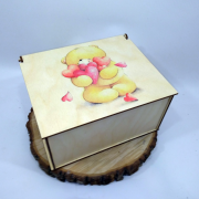 """Прямоугольная коробка для подарка """"Плюшевый мишка"""""""