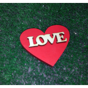 "Деревянный магнитик на 14 февраля ""Love"""