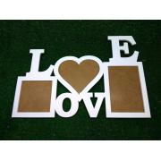 """Фоторамка """"LOVE"""" на 3 рамки"""