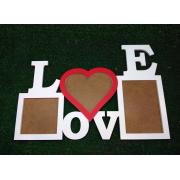 "Фоторамка ""LOVE"" на 3 рамки цветная"