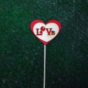 """Топпер в капкейки """"Love"""" с сердечком"""