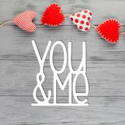 """Табличка в букет """"You&Me"""""""