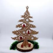 """Деревянная елка """"Кремлевская"""" с игрушками"""