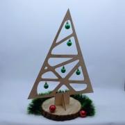 """Деревянная елка """"Геометрия"""" с шариками"""