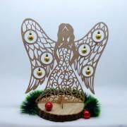 Деревянный Ангел с шариками