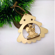 Елочная игрушка с Дедом Морозом