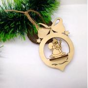 Елочная игрушка Шарик с Дедом Морозом