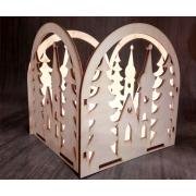 Светильник коробка , Дом в лесу
