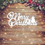 "Новогодняя табличка ""Merry Christmas"""