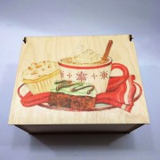 """Прямоугольная коробка с рисунком """"Зимние Вкусности"""" на крышке"""