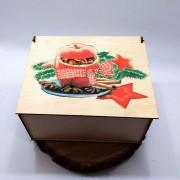 """Прямоугольная коробка с рисунком """"Рождество"""" на крышке"""